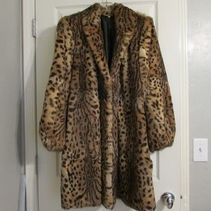 Jackets & Blazers - Vintage Ladies Lynx Bobcat Fur Stroller Coat 16-18